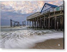 Hurricane Sandy Acrylic Print by Mike Orso