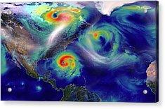Hurricane Sandy Simulation Acrylic Print by Nasa/goddard (william Putman)