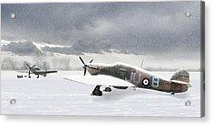 Hurricanes In The Snow Acrylic Print