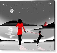 Hurry Back Darling Acrylic Print by Peter Stevenson