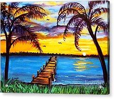 Acrylic Print featuring the painting Hurry Sundown by Ecinja Art Works