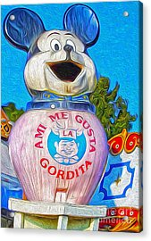 Husky Boy Mouse-cot Acrylic Print by Gregory Dyer