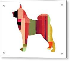 Husky Acrylic Print by Naxart Studio