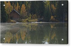 Hut By The Lake Acrylic Print