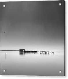 Hut In The Mist Acrylic Print by George Digalakis