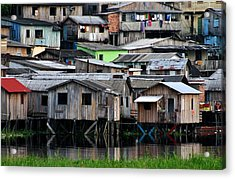 Acrylic Print featuring the photograph Huts by Henry Kowalski