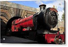 Hogwarts Express Train Work A Acrylic Print by David Lee Thompson