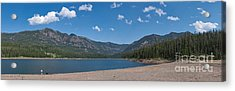 Acrylic Print featuring the photograph Hyalite Reservoir -- East View by Charles Kozierok