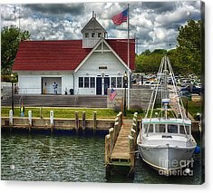 Hyannis Coastguard Hdr01 Acrylic Print by Jack Torcello