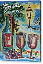 Hyde Park Square - Cincinnati Ohio Acrylic Print by Diane Pape