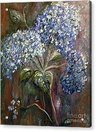 Hydrangea Bouquet At Dawn Acrylic Print by Eloise Schneider