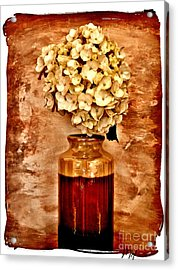 Hydrangea In A Vase Acrylic Print