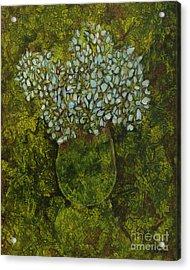 Hydrangea In Green Acrylic Print by Michael Ciccotello
