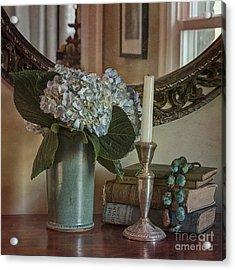 Hydrangea Still-life Acrylic Print by Terry Rowe