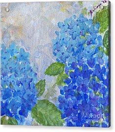 Hydrangeas On A Cloudy Day Acrylic Print by Arlissa Vaughn