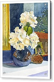 Hydrangeas On Mantle Acrylic Print