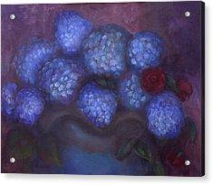 Hydrangeas Acrylic Print by Susan Hanlon