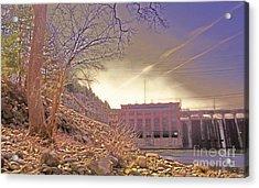 Hydro Electric Dam  N Acrylic Print by Kristine Nora