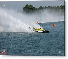 Hydroplane Gold Cup Race Acrylic Print by Michael Rucker