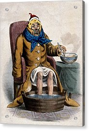 Hydrotherapy, Cure Of Common Cold, 1833 Acrylic Print by Wellcome Images