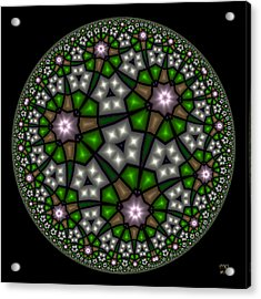 Hyperbolic Neural Net Acrylic Print