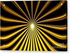 Hyperspace Gold Landscape Acrylic Print