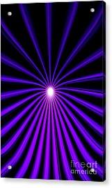 Hyperspace Violet Portrait Acrylic Print
