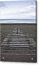Hythe Beach Kent Acrylic Print by Lesley Rigg