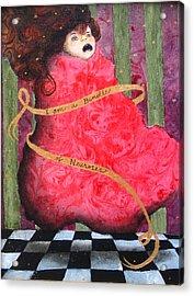 I Am A Bundle Of Neuroses Acrylic Print by Pauline Lim