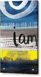 I Am- Abstract Painting Acrylic Print by Linda Woods