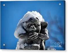I Am Cold Acrylic Print by Alexandra Jordankova