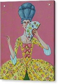 I Am Desirous Of Your Acquaintence-language Of The Fan Acrylic Print by Beth Clark-McDonal