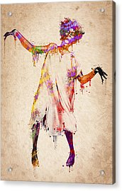 I Am Going Crazy Acrylic Print by Aged Pixel