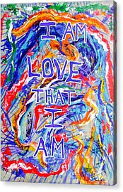 I Am Love Acrylic Print