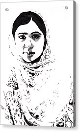 I Am Malala. Acrylic Print