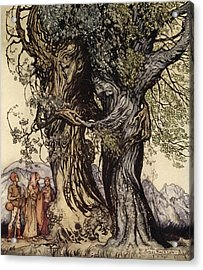 I Am Old Philemon! Murmured The Oak Acrylic Print by Arthur Rackham