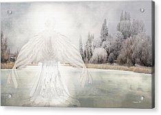 I Am Peaceful Acrylic Print by David M ( Maclean )