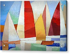 I Am Sailing Acrylic Print