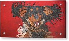 I Am Sooooooo Happy To See You Acrylic Print by Wendy Shoults