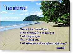 I Am With You Beach Scene Acrylic Print