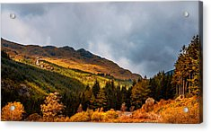 I Cant Forget This Light. Scotland Acrylic Print by Jenny Rainbow