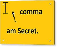I Comma Am Secret Acrylic Print by Anita Dale Livaditis