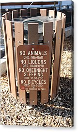 Acrylic Print featuring the photograph I Don T Think So. . .  by Marie Neder