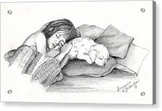 I Dont Need A Nap Mom Acrylic Print by Suzanne Schaefer
