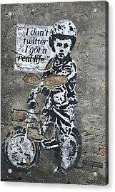 I Don't Twitter . . . Acrylic Print by Joachim G Pinkawa