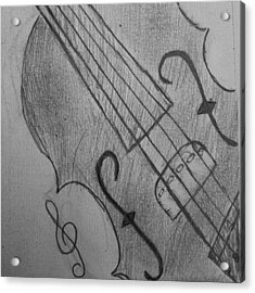 I Drew Some Of A Violin Acrylic Print