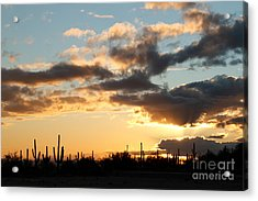 I Found The Silver Lining Acrylic Print by Crush Creations