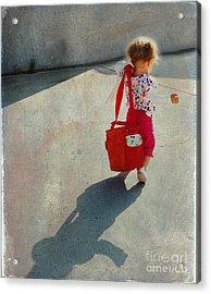 I Go To Work Like Momma Acrylic Print by Laura Sapko