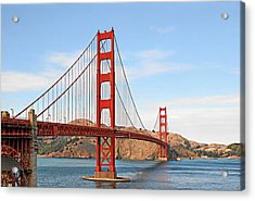 I Guard The California Shore - Golden Gate Bridge San Francisco Ca Acrylic Print by Christine Till