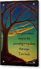 Acrylic Print featuring the digital art I Have Gone Ahead by Janet McDonald